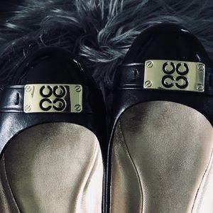 Lady's flat cute leather Coach shoe